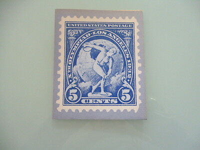 UNITED STATES  stamp reproduction card 5 cent 10th OLYMPIC GAMES LOS ANGELES