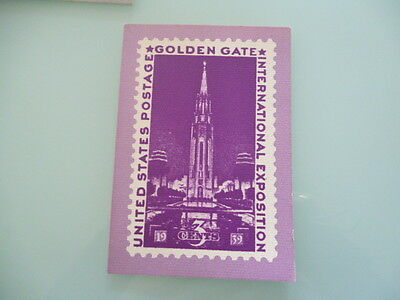 UNITED STATES  stamp reproduction card 3 cent Golden Gate international expo