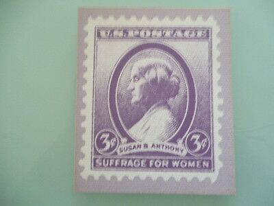 UNITED STATES  stamp reproduction card 3 cent Suffrage for Women  Susan Anthony