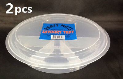 2x Plastic Picnics Container Savoury Mate Serving Container Tray BBQ's #8437