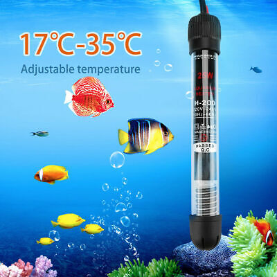 25/50/100/200/300W Submersible Water Heater Heating Rod Aquarium Fish Tank 220V