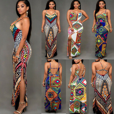 Sexy Women Fashion Long Maxi BOHO Evening Party Dress Beach Dresses Sundress New