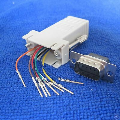 Extender F//F female DB9 female to RJ45 RS232 Female Adapter ConnectorConverterD9