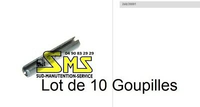 10 Goupilles Axe De Galet Bt Toyota L2000 Transpalette Manuel Pieces Detachees