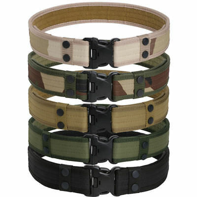 Men Outdoor Hiking Sports Waistband Army Tactical Military Trouser Buckle Belt