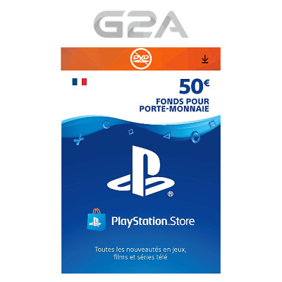 PlayStation Network Carte PSN 50 EUR Code Store - €50 PS4/PS3/PS Vita FR