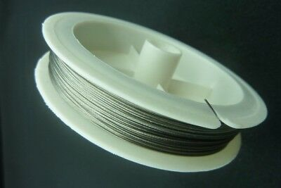 50m Spool Silver Stainless Tiger Tail Beading Wire 0.45mm Jewellery Making Craft