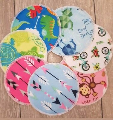 Absorbent Bamboo/washable Breast/nursing Pads. Choose Designs. Buy 5 Get 1 Free