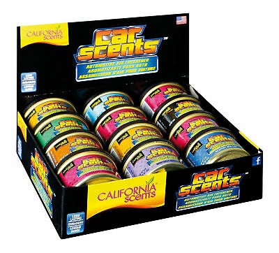 Original California Scents 12 Pack Assorted Car Home Air Freshener Scent Tins