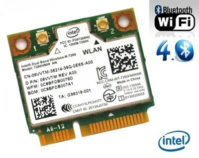 + Intel® Wireless-N 7260 Dual Band 5Ghz 300Mbit/s WLAN+Bluetooth 4.0 Mini PCIe +