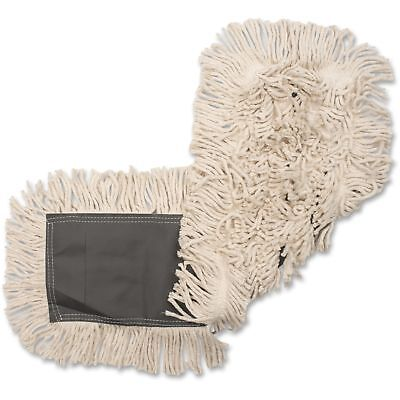 "Genuine Joe Disposable Cotton Dustmop, 24""x5"", 12/CT, Natural 00365CT"