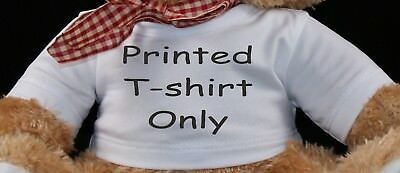 Personalised Teddy Bear T-Shirt Birthday Gift Photo/Text Print TSHIRT ONLY
