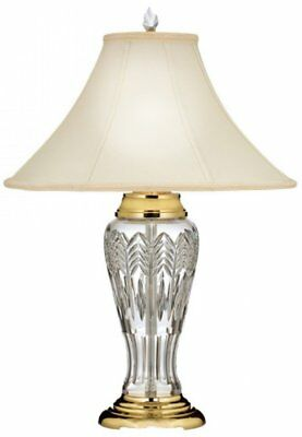 "Waterford Waves Of Grain Table Lamp 26"" 156074 - Crystal and Polished Brass NEW"