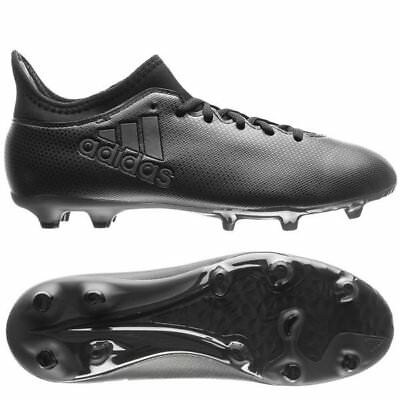3fee5283581a adidas X 17.3 FG 2017 Soccer Shoes Cleats Blackout Pure Black Kids - Youth