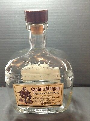 Captain Morgan Private Stock EMPTY Liquor Bottle 1L - Excellent Condition
