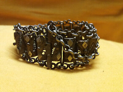 antique greek ottoman silver filigree bracelet