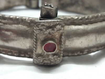 antique islamic syrian ottoman bedouin bangle silver granulation
