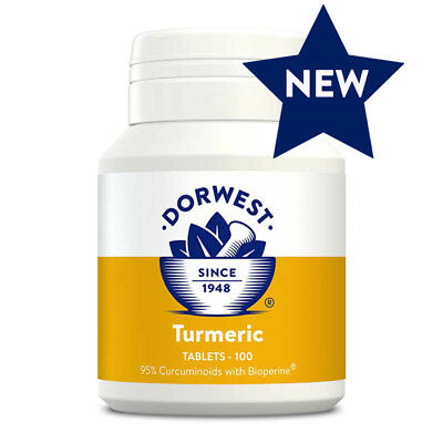 Dorwest Turmeric Tablets x 100, Premium Service, Fast Dispatch