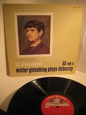 GIESEKING- DEBUSSY- 15 PIANO PIECES - JAPAN ANGEL EAC 60122 mono ,mint