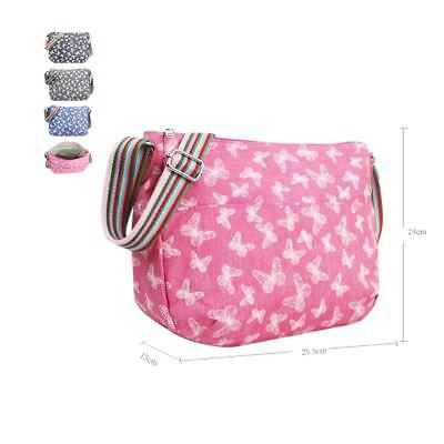 Girls Butterfly Print Crossbody Multi Purpose Bag PU Women's Bag Ladies Glitter