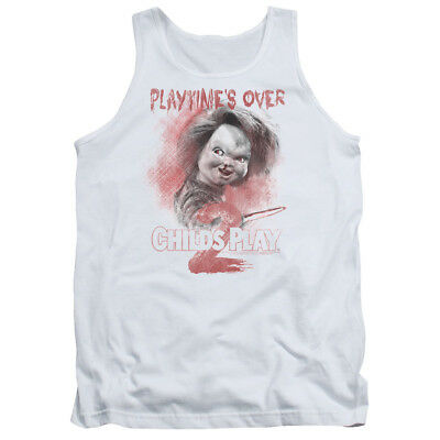 Child's Play 2 Chucky PLAYTIME'S OVER Licensed Adult Tank Top All Sizes