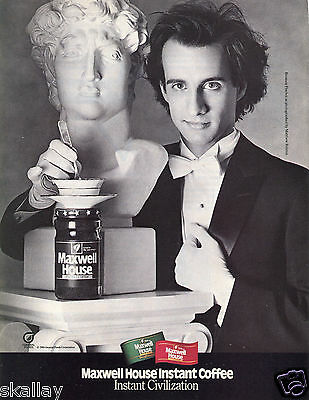 1986 Print Ad of Maxwell House Instant Coffee with Bronson Pinchot