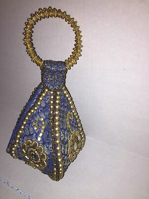 Indian inspired wrist bag w beautiful gold embellishments. Rare find. See pics.
