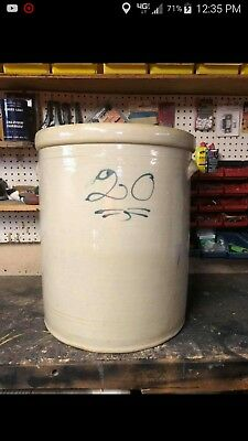 antique crocks cobalt decorated 20 gallon