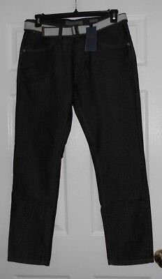 "pd&c asst sizes belted denim jeans ""Hunter"" Slim Straight Item:PJ9C7NW5E NWT"