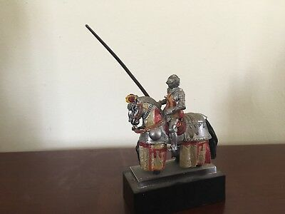 RARE Spanish Jousting Knight And Horse Figurine Artesania Joust Pike Look!