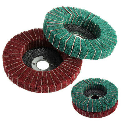 Nylon Fiber Wheel Abrasive Polishing Buffing Disc Pad Brush Rotary Tool 10cm