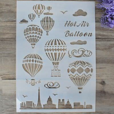 Stamp Embossing Template Hot Air Balloon Layering Stencils Scrapbooking