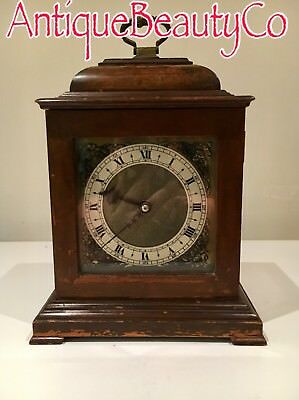 Antique Walnut Bracket Clock with Smiths Enfield 8 Day Movement Fitted
