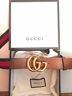 Brand New Signature Green/Red/Gold Gucci belt