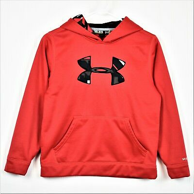 Under Armour Boys Storm Loose Hoodie Sweatshirt Pullover Youth Medium YMD Red