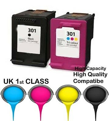 2 Compatible Ink Cartridge For HP 301 Envy 4500 4502 4504 4505 4507