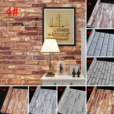 Realistic Wall Waterproof Background Mural Decor Stone 10m 3d Panel Brick Paper