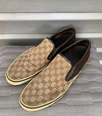 348bd5d4f3ce0 GUCCI MONOGRAM CANVAS Slip On Sneaker Loafers -  96.00