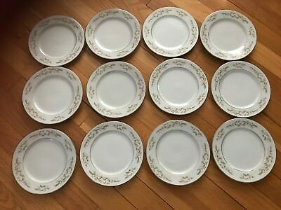 Vintage International Silver Co. Fine China 326 Springtime (12) Dessert Plates