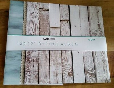 "Kaisercraft - BEACH SHACK - 12x12"" D-Ring Binder Album w/ 10 refills"