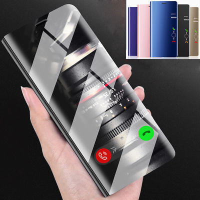 Luxury Touch Mirror PU Leather Flip Stand Case Cover For iPhone X 8 7 Plus/ 7 XS