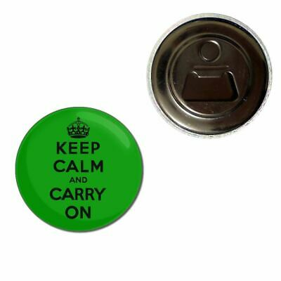 KEEP CALM AND KILL ZOMBIES BEER DRINK BOTTLE CAP OPENER CHROME KEYRING