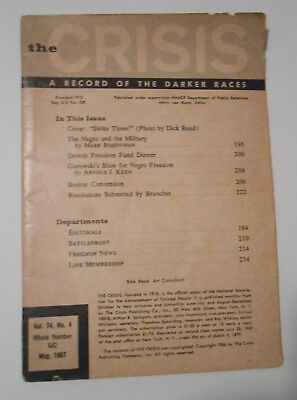 The Crisis A Record Of The Darker Races Magazine May 1967