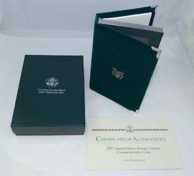 1997 Us Mint Prestige Proof Set Silver Botanic Garden Coin Ogp - Free Shipping