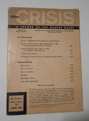 The Crisis A Record Of The Darker Races Magazine October 1967
