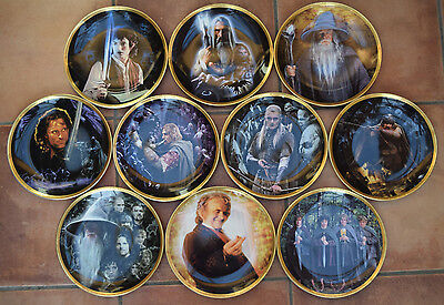 Danbury Mint Wedgwood The Fellowship Of Ring Collectionneur Plaques - Édition
