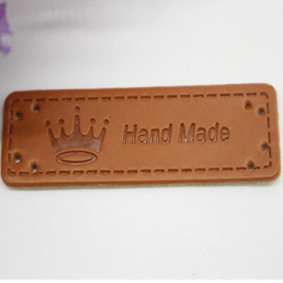 10 Pcs Custom  Leather Labels DIY Personalized Clothing Garments Craft Patches