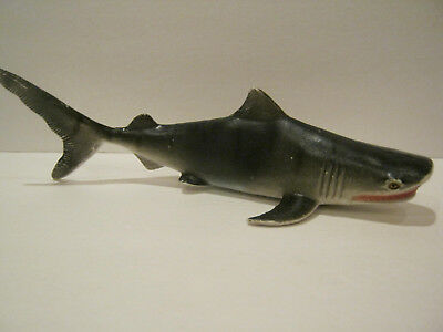Vintage SHARK Rubber Toy - Tiger Shark , 2002 Made in China...