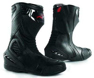 Bottes Motard Moto Cuir Piste Touring Homme Sport Chaussures Professionnel