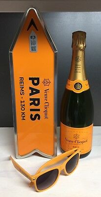 Veuve Clicquot Champagne Destination Arrow Tin Box PARIS Journey Street Sign